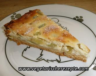 Rhabarber Quark Kuchen Vegetarische Rezepte
